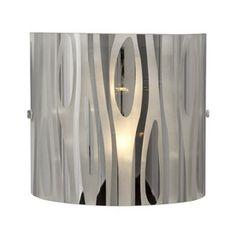 Lustre 7.875-in W 1-Light Chrome Art Glass Pocket Hardwired Wall Sconce