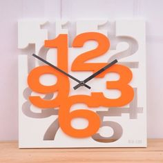 Fashion New Modern 3D Unique Creative Wall Square Clock Home Decor orange Fantastic Job http://www.amazon.com/dp/B0098T5AAE/ref=cm_sw_r_pi_dp_E-nyub1J4Q8TQ