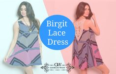In this airy, Tang-style slip dress - tailored with a delicate crochet back - you won't slip by anyone's attention. Looks will linger more with an arm cuff and some bangles. Shop birgit lace dress for women from giorgio west online clothing store. #DressForWomen #SleevelessDress #CocktailDresses