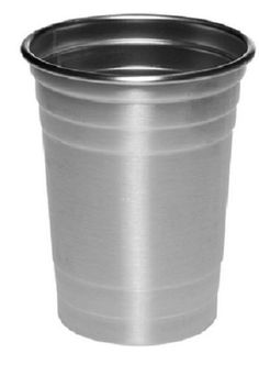 16 oz stainless steel drinking cup/beer party cups Keeps drinks colder longer!