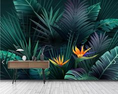 This Tropical Leaves Wallpaper Jungle Flower Wall Mural HD Photo Wall Papers for Living Room Bedroom Rainforest Leaf Canvas Wall Art Decal is just one of the custom, handmade pieces you'll find in our wallpaper shops. 3d Wallpaper Jungle, Forest Wallpaper, Photo Wallpaper, Wall Wallpaper, Wallpaper Shops, Bedroom Wallpaper, Tropical Wallpaper, Wallpaper Wallpapers, Flower Wallpaper