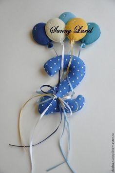 Детская ручной работы. Ярмарка Мастеров - ручная работа. Купить Авторская декоративная цифра с шариками (13см без шариков). Handmade.