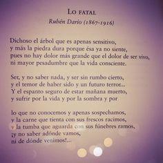Lo fatal, Rubén Darío