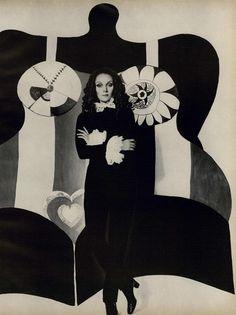 Niki de Saint Phalle for VOGUE, January 1968.