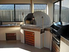 Cook gourmet pizzas with our Alfresco #Wood-fired #Pizza #Oven.