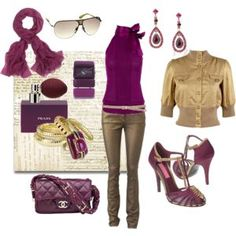 Love the purple and gold