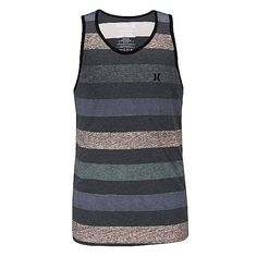 Hurley Cross Distressed Tank Top (6.465 HUF) ❤ liked on Polyvore featuring men's fashion, men's clothing, men's shirts, men's tank tops, boys, tanks and tops