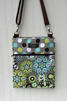 Items similar to iPad Padded Sling Bag- Harvest Bloom & Dot on Etsy Diy Fabric Purses, Fabric Bags, Ipad Bag, Diy Clutch, Diy Handbag, Purse Patterns, Cute Bags, Zipper Bags, Bag Making