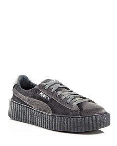 3b7d7c4ac39e FENTY Puma x Rihanna Women s Velvet Lace Up Creeper Sneakers Puma Sneakers  Shoes