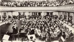 From Wikiwand: Saint-Saëns at the piano for his planned farewell concert in 1913, conducted by Pierre Monteux