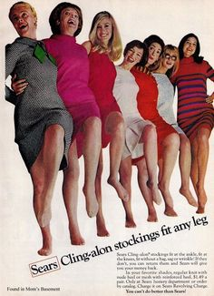 1967 ad for Sears hosiery