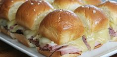 A High School Graduation Party-mini baked ham sandwiches