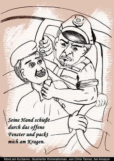 """Polizei aggressiv. """"Mord am Ku'damm"""". Illustrierter Kriminalroman. / Police aggressively. """"Murder on the Kurfürstendamm"""". Illustrated detective novel. www.gutenachtgeschichten24.com"""