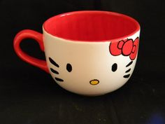 Hello Kitty Mug....Make this at your local Paint Your Own Pottery Studio...@Hilari Neitzey Lemar Nelson, here is an idea for our Mother's Day Pottery Date! :)