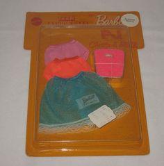 "1970 Mod Teen Fashion Paks Barbie ""Fashion Firsts"" RARE NRFP NRFB Mattel Bath Bathroom Scale Half Slips"