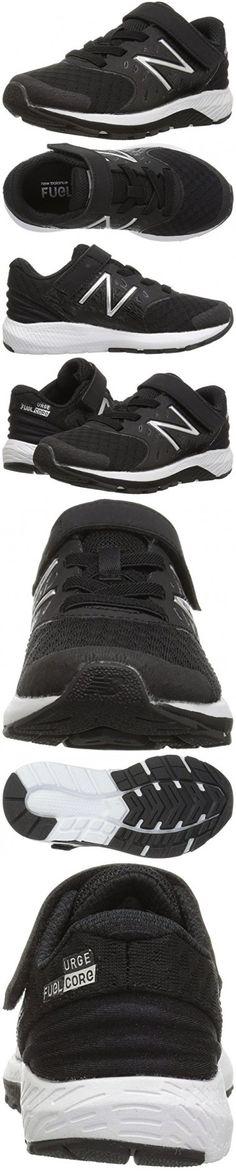 New Balance Boys' Urge V2 Hook and Loop Road Running Shoe, Black/Whit, 8 Medium US Infant