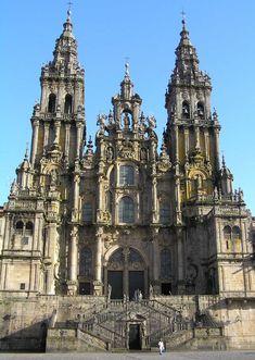 Fachada Oeste. Catedral Santiago de Compostela. Plaza del Obradoiro