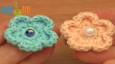Easy Crochet Flower Free Pattern Tutorial 81 Flowers For Beginner Crochetersm  http://sheruknitting.com/videos-about-knitting/crochet-flower-lessons/item/612-how-to-make-crochet-flower.html  See more flowers to crochet and knit on Sheruknittingcom YouTube Channel! You can use this flower on hats, bags, pins, hair bands, clothing, home decore, as gift package/gift card decoration, make it a part of your fashion accessories like bracelets, necklaces, belts, scarves.