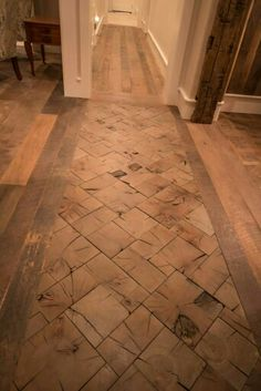 Save The Ends Of Your Timber To Create Gorgeous End Grain Floors Wood Block Flooring, End Grain Flooring, Wooden Flooring, Wood Blocks, Diy Flooring, Diy Home Improvement, Floor Design, Home Decor Inspiration, Home Projects