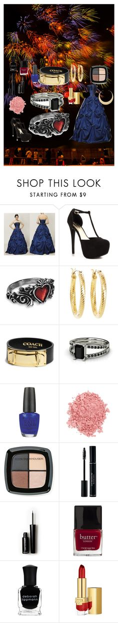 """""""Quinceañera, XV, Actual"""" by gwen-box ❤ liked on Polyvore featuring Masquerade, JustFab, Brooks Brothers, Coach, OPI, TheBalm, Eddie Funkhouser, Forever 21, Butter London and Deborah Lippmann"""
