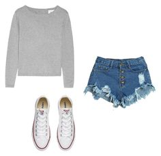 """""""Untitled #58"""" by amy-kate-hamann on Polyvore featuring WithChic and Converse"""