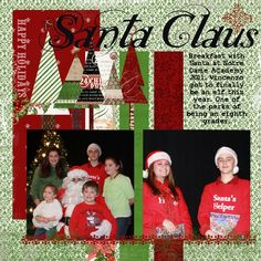 scrapbook+layouts+cheerful+christmas | Christmas scrapbooking layout - like the use of scraps to make tree ...