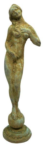 Ancient Roman. Solid bronze statue of a nude Venus.  100 BC