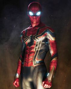 Spider Man in Avengers: Infinity War Artista: Alexander Lebedev Amazing Spiderman, All Spiderman, Spiderman Costume, Marvel Comics, Marvel Heroes, Captain Marvel, Iron Spider Suit, Die Rächer, Avengers Wallpaper