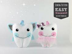 Tooth Fairy Pillow Sewing Pattern  Girls Tooth by MaisieMooNZ