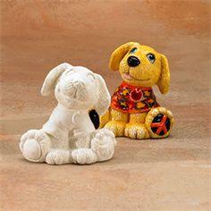 GARE BISQUE PEACE PAL DOG - Ceramic Arts