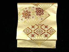 Elegant & Luxurious Housouge Fan Pattern Fukuro Obi