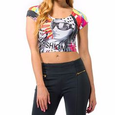 Alanic Global, reputed manufacturer, offers best quality of colorful sublimated crop top for women at wholesale rate in USA, Australia and Canada.