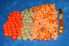 Vintage Orange Acrylic Bead Lot by GiftbearerSupply on Etsy