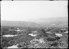 The desolated landscape of the Chambrettes sector, Verdun. 1917.