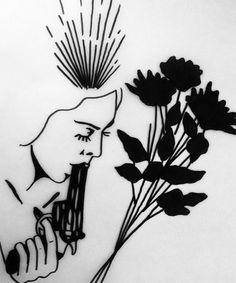 johnny gloom side on the right back shoulder blade 1 Tattoo, Tattoo Drawings, Art Drawings, Handpoked Tattoo, Dibujos Tattoo, Flash Art, Future Tattoos, Art Inspo, Cool Art