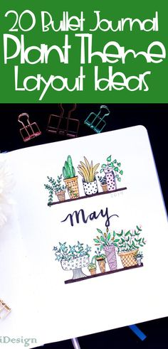 Bullet Journal Themes- Looking for a great, fun, easy theme for your next bujo setup? A plant theme is a great option full of TONS of options for inspiration and ideas. Get great ideas for spreads and plant doodles galore. You'll adore this super simple bullet journal theme setup. #bulletjournal #bujo #planning #howtodraw #plants #plantdoodles #bulletjournaltheme #bujoideas #journalideas #journaling