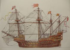 Spanish Carrack - Similar looking to galleons from the armada of 1588