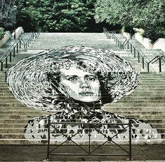 Nuovo pezzo dello street artist italiano David Diavù a Roma.