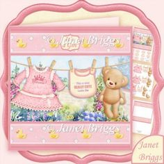 Baby Girl Washing Line 7.5 Decoupage & Insert Mini Kit