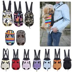 1196d7090fd $8.27 - Dog Cat Canvas Pet Puppy Carrier Backpack Front Tote Carrier Net Bag  G #
