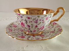 Briar Rose Chintz Windsor China Tea Cup & by TheEclecticAvenue