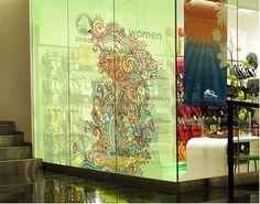 XXL FensterBild Florale Illustration