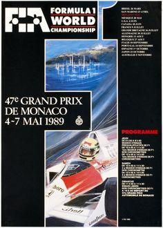 Affiche grand prix de Monaco 1989
