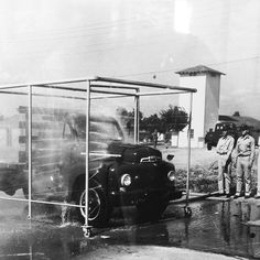 Here is a 1940s car wash at an army base in Amarillo, TX