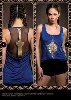 Wonder Woman Collection | TRENDS | Hot Topic  HER UNIVERSE DC COMICS WONDER WOMAN DAUGHTER OF THEMYSCIRA SWORD TANK TOP