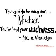 Alice in Wonderland Quotes (Wall Quote Decals)