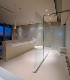Glass partition in First Crescent by SAOTA located in Campus Bay, South Africa.
