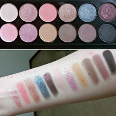 Swatches of the Sleek palette in Oh So Special