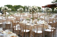 White Washed Event Rental Tiffany Chair