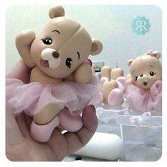 Polymer Clay Animals, Polymer Clay Dolls, Polymer Clay Crafts, Teddy Bear Party, Teddy Bear Cakes, Clay Bear, Christmas Craft Fair, Crochet Towel, Bear Decor